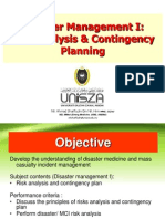 Disaster Mx 1 Risk Analysis & Contingency Planning.ppt