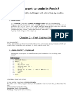 Fenix tutorial - Chapter 2