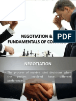 Negotiation and Fundamentals of Control
