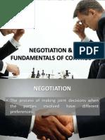 Negotiation and Fundamentals of Control