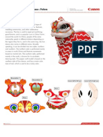 Papercraft Lion Dance / Barogsai
