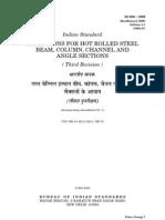 Is 808-1989 Steel Table