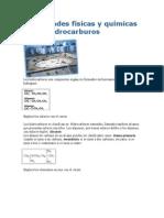 Propiedades físicas y químicas de los hidrocarburos