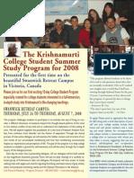 2008 Canada K Student Program