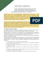 Comunicato Stampa M5S Daniela Aiuto- L'UE non finanzierà il 40% della Tav