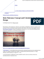 Kick Tolerance Concept and Calculation for Well Design‎