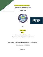 Internship Report  on Mobilink Jazz 2014