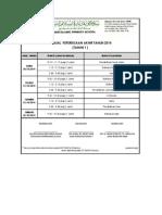 Jadual Peperiksaan Akhir Tahun 2014 (Tahun 1))