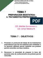 PPR TEMA 7 PREPARACION BIOSTATICA - TRATAMIENTOS PREPROTÉSICOS.pdf