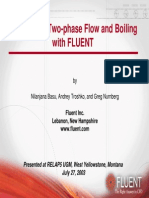 Modeling of Two-pModeling of Two-phase Flow and Boiling with FLUENThase Flow and Boiling With FLUENT Ppt