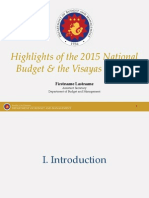 Highlights of the 2015 NEP and the Visayas Budget by Asec. Tina Rose Marie Canda, DBM