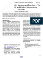A Survey of Quality Management Practices in the Kenyan Small and Medium Manufacturing Industries