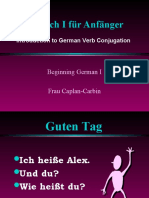 Conjugation Learn German Aprender Aleman