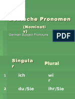 Pronomen Learn German Aprender Aleman