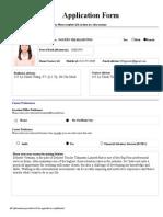 Deloitte Application Form - Internship Program 2014