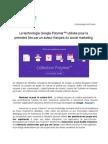 La technologie Google Polymer utilisée pour la première fois par un acteur français du social marketing