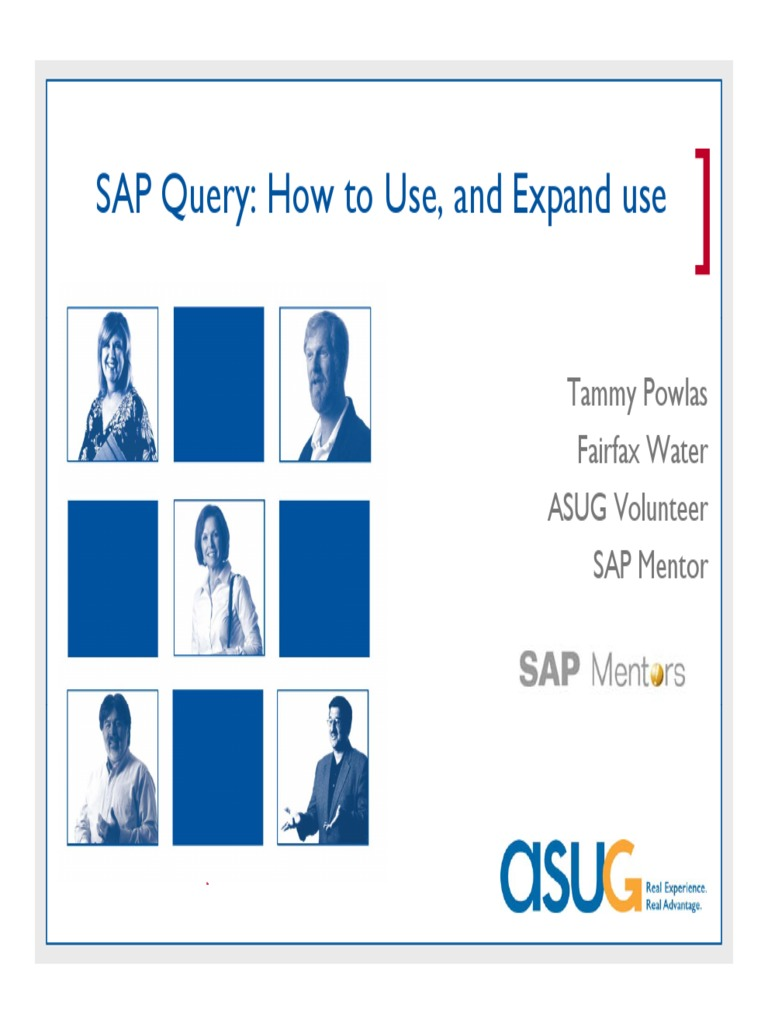 Sap Query | Databases | Use Case