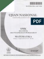 Soal Ujian Nasional SMK 2013-2014 Matematika Akuntansi