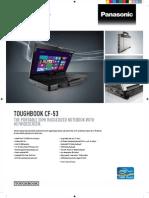 Panasonic Toughbook CF-53AACHYDY Semi Rugged HD Notebook