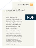 The Handshake Deal Protocol