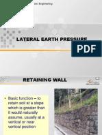 Lateral Earth Presuure