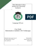 Case Study Balchandra Jarkiholi v B S Yeddyurappa