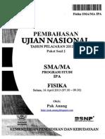 Pembahasan Soal UN Fisika SMA 2013 Paket 2