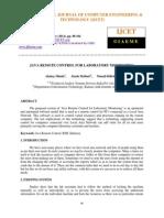 Java Remote Control for Laboratory Monitoring