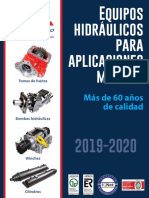 Catálogo de equipos hidráulicos de Bezares México