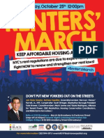 Housing March - English and Spanish Flyer