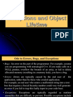 Chapter 5-Exceptions and Object Lifetime