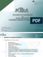 Taxation on Corporate & Non-Corporate - KTBA
