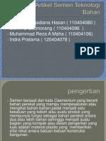 Tugas I Kelompok Teknologi Bahan.pptx
