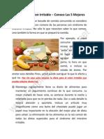 Dieta Para El Colon Irritable y Sus Ventajas Para Un Colon Saludable