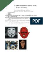 Voorbereidende Opdracht Beeldende Vorming Masker
