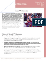 Peace Corps V2 Volunteerism  Info Brief 2013