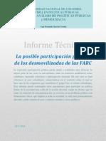 Participación política de los desmovilizados de las FARC, informe tecnico.pdf