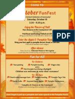 Orchard UMC October FunFest 2014