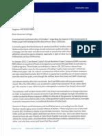 Letter to Gov. LePage