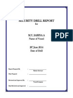 Security Drill Report