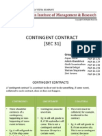 Contingent Contracts