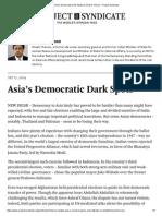 Asia's Democratic Dark Spots by Shashi Tharoor