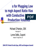 Plugging Vias WConductive Ink