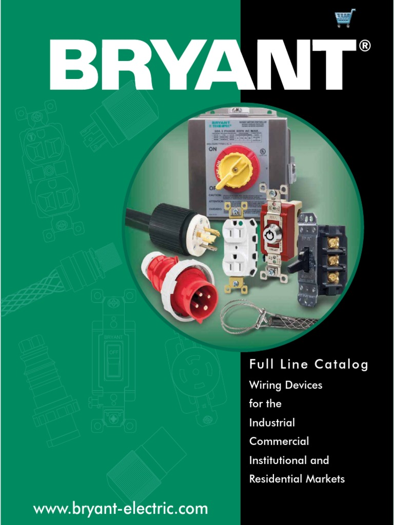 bryant catalog bc 001 electrical connector electrical wiring rh scribd com bryant electric wiring devices bryant wiring devices distributors
