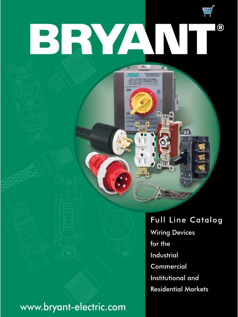 bryant catalog bc 001 electrical connector electrical wiring rh scribd com Arrow Hart Wiring Devices bryant wiring devices distributor