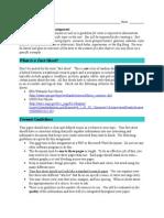 fact sheet writing assignment
