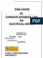 Term Paper on formation of a company