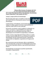 15-10-14 INTERVENCIÓN EN LA TOMA DE PROTESTA DEL PRESIDENTE DEL COMITÉ MUNICIPAL DEL PRI EN HUATABAMPO.