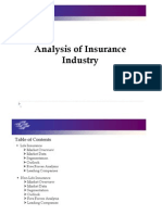 Analysis of Insurance Industry