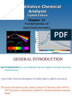 Ch17 Fundamentals of Spectrophotometry